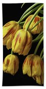 Drooping Tulips Beach Towel