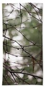 Droplets On Branches Beach Towel