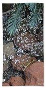 Droplets Over Web Beach Towel