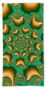 Drops Of Gold Beach Towel
