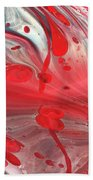 Drops Of Red Beach Towel