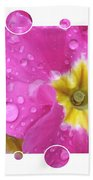 Bubbly Pink Raindrops  Beach Towel