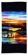 Drowned Sunset Beach Towel