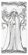Druid Woman Shush Beach Towel