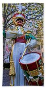 Drummer Boy  In Rockefeller Center Beach Towel