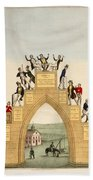 Drunkards Progress, 1846 Beach Towel