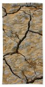 Dry Cracked Lake Bed Beach Towel