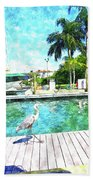 Dry Dock Bird Walk Beach Towel