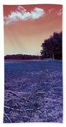 Dry Lake Infrared Beach Towel