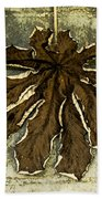 Dry Leaf Collection Natural Beach Towel