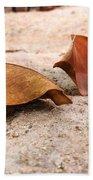 Dry Leaves Beach Towel