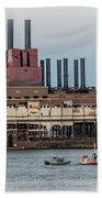 Dte Power Plant  Beach Towel