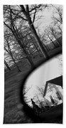 Duality - A Black And White Photograph Symbolically Representing The Gravity Of Choice  Beach Towel