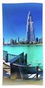 Dubai Burj Khalifa Panorama Beach Sheet