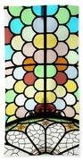 Dublin Art Deco Stained Glass Beach Towel