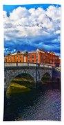 Dublin's Fairytales Around Grattan Bridge 2 Beach Towel