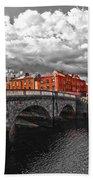 Dublin's Fairytales Around Grattan Bridge 2 V3 Beach Towel