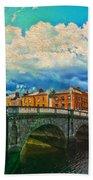 Dublin's Fairytales Around  River Liffey V4 Beach Towel