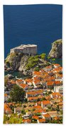 Dubrovnik Fortress From Above Beach Towel
