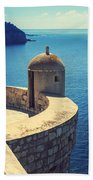 Dubrovnik Fortress Wall Tower Beach Towel