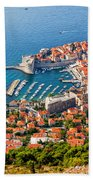 Dubrovnik From Above Beach Sheet
