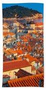Dubrovnik Rooftops Beach Towel