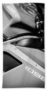 Ducati 1098 Motorcycle -0893bw Beach Towel
