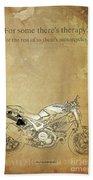 Ducati Motorcycle Quote Beach Towel
