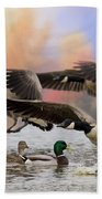 Duck Ducks 2 Beach Towel