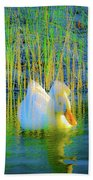 Duck On A Mission Beach Towel
