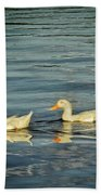 Duck Reflections Beach Towel