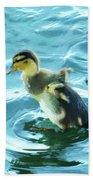 Ducklings Digital Water Color Beach Towel