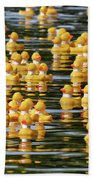 Ducks In A Row Beach Towel