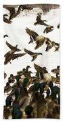 Ducks On The Move Beach Towel