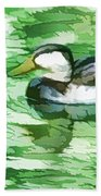 Ducks Swimming In A Pond Beach Towel