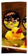 Ducky Reflections Beach Towel