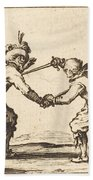 Duel With Swords Beach Towel