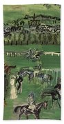 Dufy: Race Track, 1928 Beach Towel