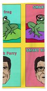 Dumb Rick Perry/smart Rick Perry Beach Towel