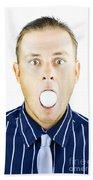 Dumbfounded Man Silenced By A Golf Ball Beach Towel