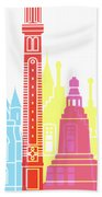 Dundee Skyline Pop Beach Towel