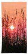 Dune Grass Sunset Beach Towel