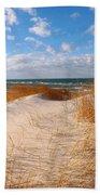 Dunes In Winter Beach Towel