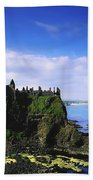 Dunluce Castle, Co Antrim, Irish, 13th Beach Towel