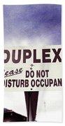 Duplex Yard Sign Stormy Sky Beach Towel