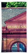 Duquesne Incline Of Pittsburgh Beach Towel by Lisa Russo