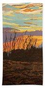 Dusk Fishing, Hutchinson Island Beach Towel