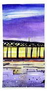 Dusk Pier Beach Towel