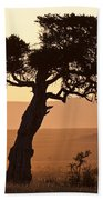 Dusty Sunset Over The Mara Beach Towel