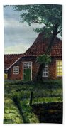Dutch Farm At Dusk Beach Towel